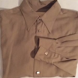 Men's Stubbs Silk Shirt LS. Marked Large but is XL